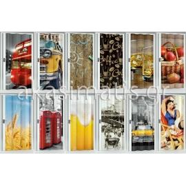 Πτυσσόμενες Πόρτες PVC  Ψηφιακή Εκτύπωση