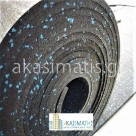Ελαστικό ρολό 6 mm Πάχους SBR-χρώμα μαύρο
